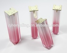 plastic cosmetics containers manufacture colorful bottle acrylic flat square bottle                                                                                                         Supplier's Choice