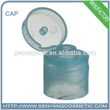 hot sale plastic flip top cap adhesive screw caps