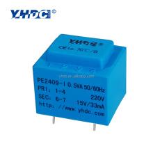 0.5VA 110V 220V 230V 380V to 12V encapsulated transformer with PCB mounting installation