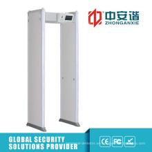Pantalla táctil LCD Paseo a través de detector de metales para uso al aire libre Detector de metales