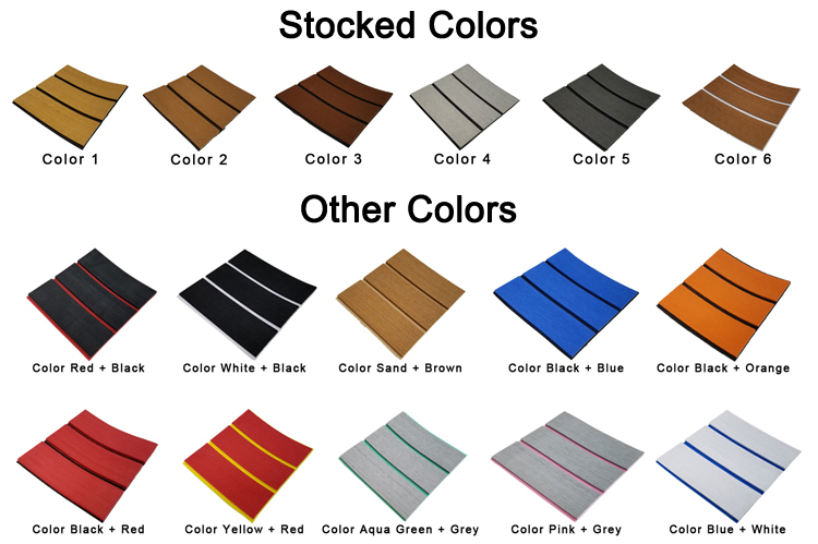 EVA Synthetic Teak Sea Customized Deck Flooring Recreational Vehicle Decking