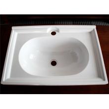 Kundengebundene hochwertige weiße Melamin-gesundheitliche Waren (CP-013)