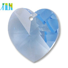 Multicolor heart shape crystal pendant beads, loose peach heart glass crystal pendant size 14mm bulk sales