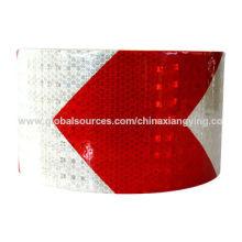 Rotes und weißes Pfeil-10cm Breiten-Reflexstreifen für Verkehrssicherheit