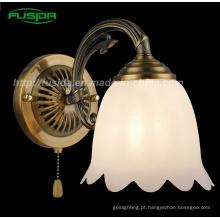 Estilo europeu luz da parede interior e lâmpada de parede com vidro