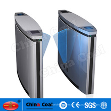 CE Approved retractable flap barrier gate with queue management system