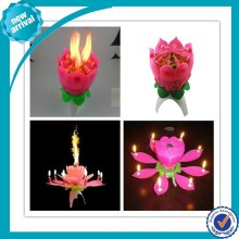 Promotional Singing Opening Flower Birthday Candle