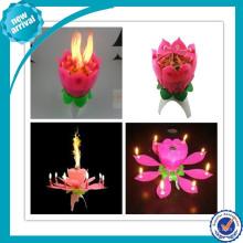 Promoção cantar abertura flor aniversário vela