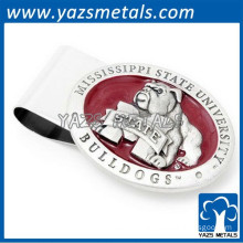 3D embossed logo steel engraved money clip