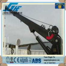 Puente de pedestal hidráulico Grúa de cubierta marino telescópica