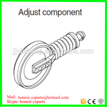 E70B E110B E120B E311B E312B E200B E225 E320 E325 E330 excavator front idler assy with spring track adjuster component