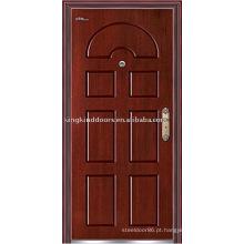 Sistema de segurança de porta do quadro alta qualidade porta blindada de aço de madeira (JKD-215) porta de aço