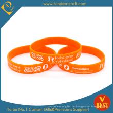 Benutzerdefinierte Großhandel Silikon-Armband, freiwilliges Armband (LN-07)