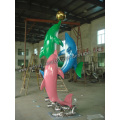 Multicolor Dolphin Sculpture