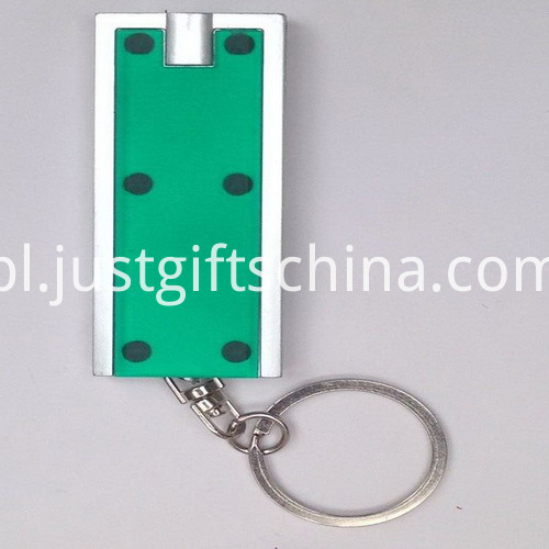 Promotional ABS LED Square Keyring Torches1