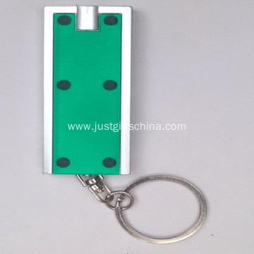 Promotional Plastic LED Square Torch Keyrings