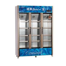 826L vertikal unter der Einheit öffnen Multi-Door Display Kühlschrank