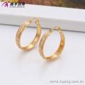 29583 Xuping Moda Big Hoop Earring, Brinco de Diamante Banhado a Ouro 18K