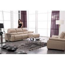 Sofá de salón con sofá moderno de cuero genuino (917)