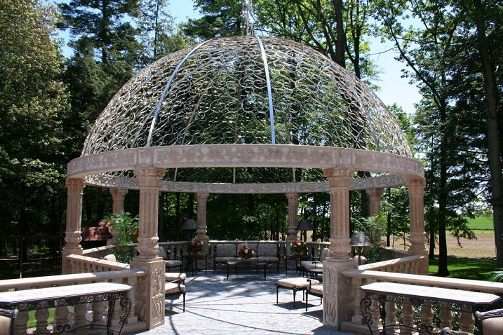 carved marble stone gazebo