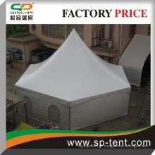 Tente de chapiteau hexagonale avec fenêtres en PVC pour les événements de mariage en plein air