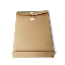 Customized Design Kraft Paper Printing File Folder with Clip