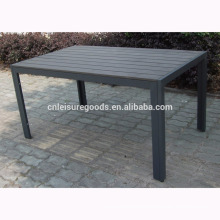 Rectangular aluminium plastic wooden table