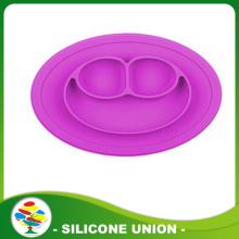 Safe non-toxic baby silicone smiling face placemat