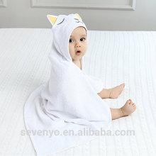 High quality 100% organic baby hooded towel bamboo baby towel Boys & Girls premium baby bath towel --Sleep cat