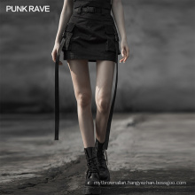 OPQ-560 punk rave name brand street fashion pocket hip skirt