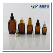 5ml Square Amber Glass Essential Oil Bottle with Dropper