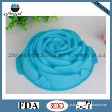 Big Rose Flower Silicone Cake Moule Silicone Cake Pan Sc08