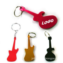 Cool Guitar Design Aluminum Material Bottle Opener Key Chain (JST-BKC6004)