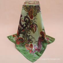 Нестандартная Конструкция высокое качество печать мода саржевого Шелковый шарф оптовая