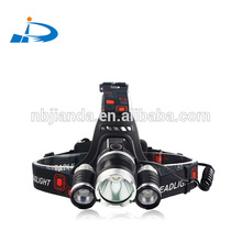 Bright Headlamp Flashlight, 3 XML-T6 LED Headlight Torch with Rechargeable Batteries and Charger for Outdoor Sport