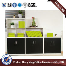 Aluminum Glass Doors Office Bookcase Modern Melamine Office Furniture (HX-6M287)