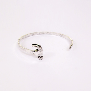 Alat Cuff Bangle Stainless Steel Hammer Bangle Bracelet