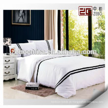 100% Algodão Atacado Hotel Bed Linen Folha de cama bordada Sets