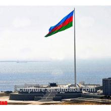 Tôle de drapeau en acier inoxydable, mât de drapeau national,