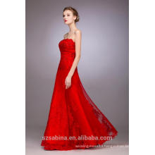 2017 hottest style of red sleeveless floor-length evening dress for women