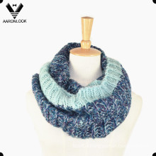 Lady Acrylic Mohair Knitted Circle Scarf