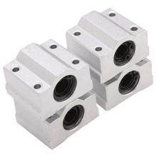 Douille en aluminium faite sur commande de bloc de roulement à billes de mouvement linéaire
