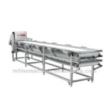 Selecting conveyor belt