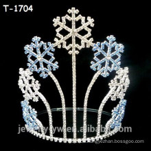 Wholesale colored crystal snowflake christmas pageant crowns