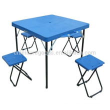 Outdoor Camp Suitcase Aluminum Picnic Table with 4 Seats