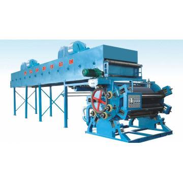 Разрядка печатной машины для бархатной окраски