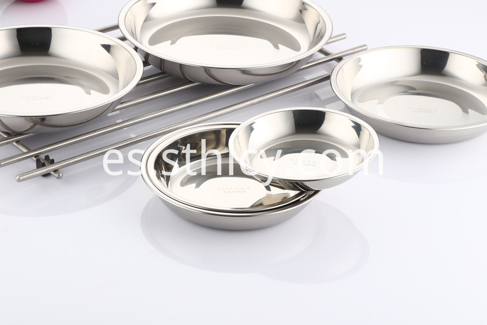 stainless steel plate for food