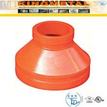ASTM-A536 300 Psi duktiles Eisen gerillte konzentrische Reduzierstücke