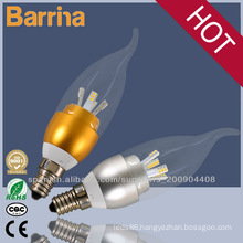 2014 eco-friendly e14 led flicker flame candle light bulbs