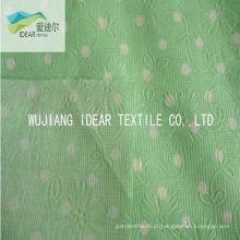 Bolha de flor de algodão de 100% impressa Seersucker tecido para vestuário